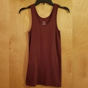 Mossimo Burgundy Scoop Neck Tank (Size S)